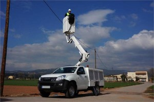 P9TL - Nacelle télescopique sur Pick-UP